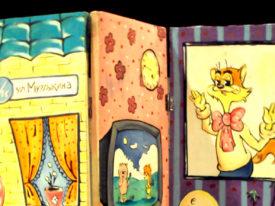 Cat Leopold birthday stand