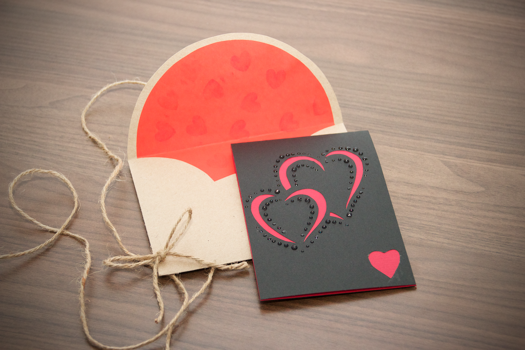 Red Hearts Love Card