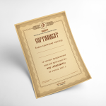 Jewelry Company Quality Certificate