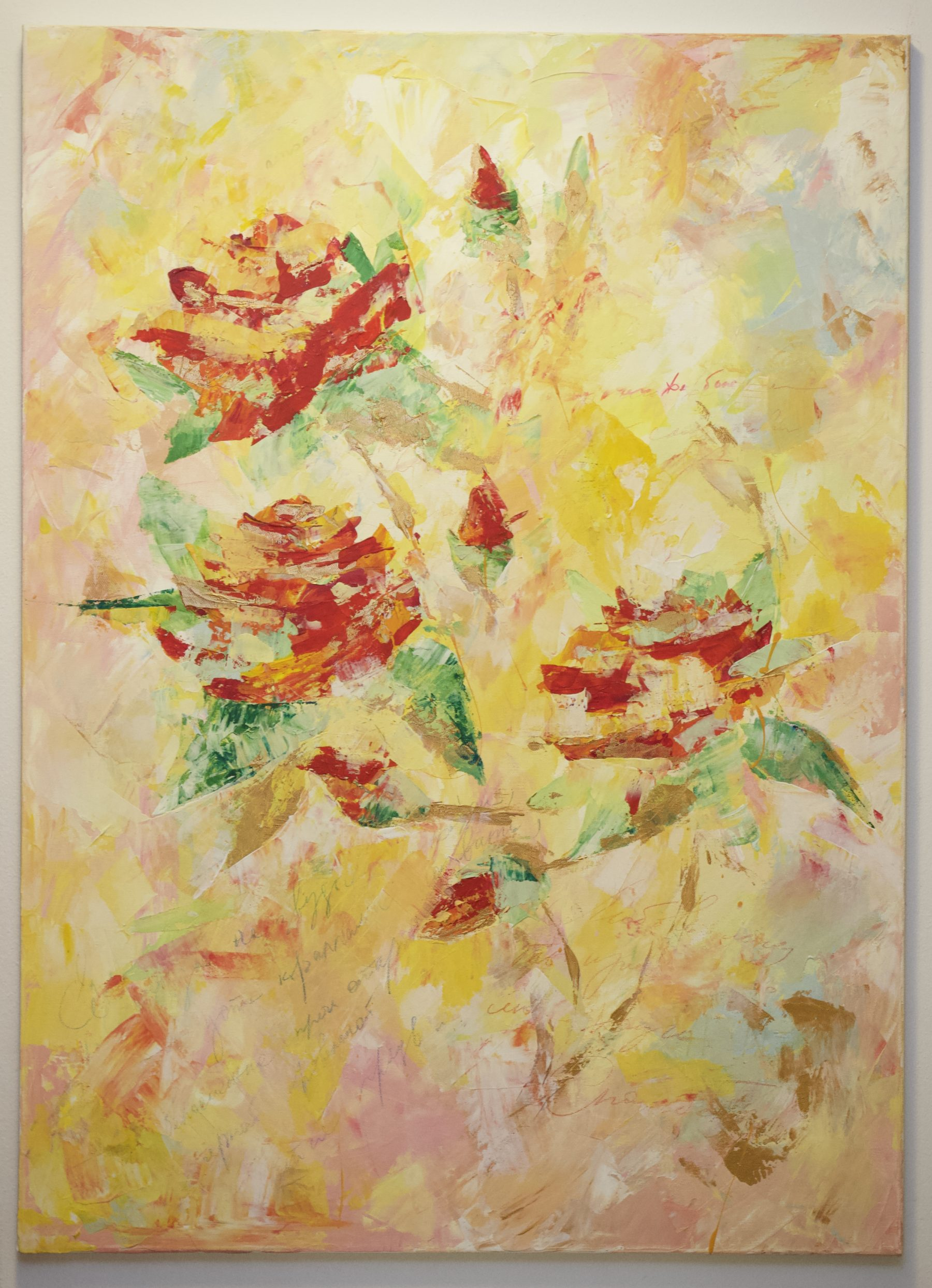Letter of love 2017 December - Abstract painting course by Immonen-Lindberg Helka