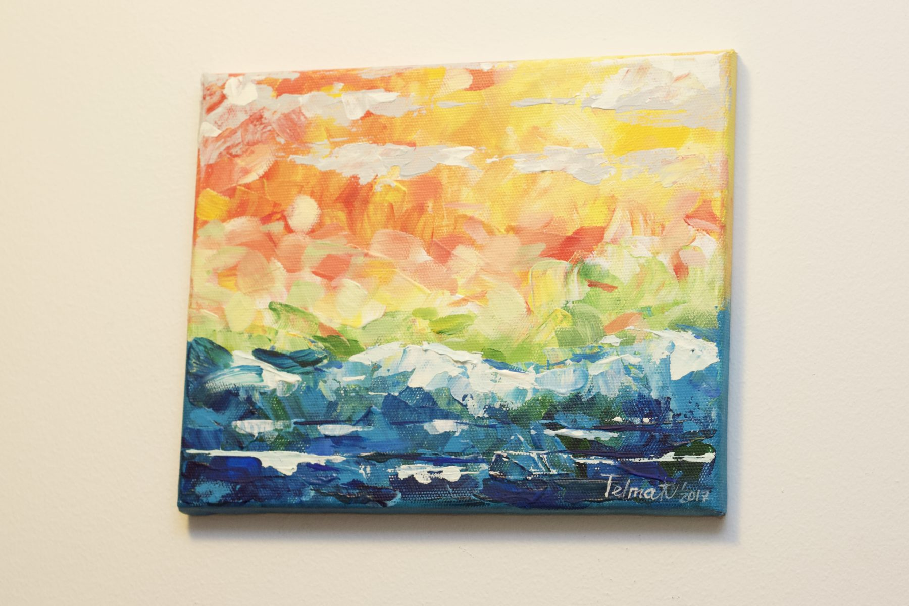 Acciaroli 2017 December - Abstract painting course by Immonen-Lindberg Helka