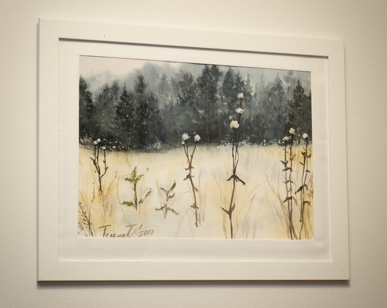 Winter flowers December 2017 - Painting course by Sergey Kurbatov