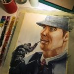 Sherlock Holmes Watercolor Paintings