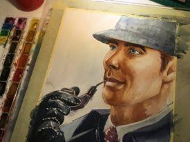 Sherlock Holmes Watercolor Paintings