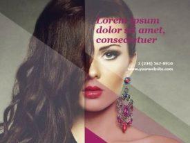 Beauty shop brochure