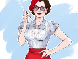 Regina in Pin-up style